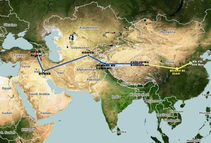 中國神話的苗族說明證實了諾亞洪水的歷史