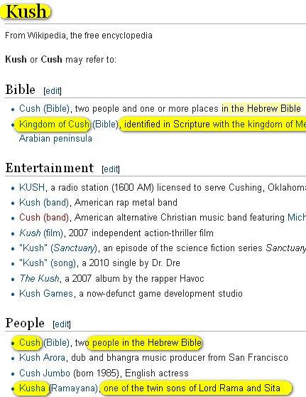 Cush Wikipedia