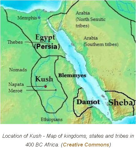 Who Was Cush Ancient Patriarchs - Map of ancient egypt kush and israel