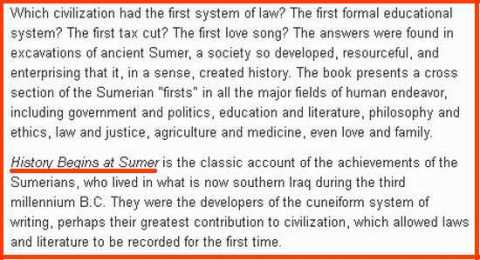 Sumeria-firsts