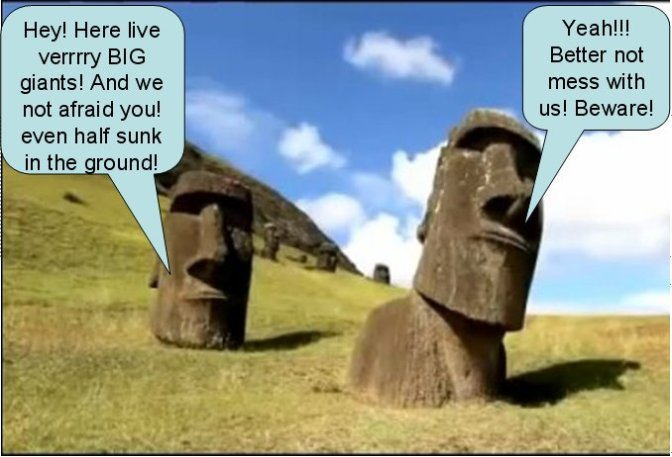 Mystery solved! No Alien built Moai but Easter Island scared of giant seafarers?