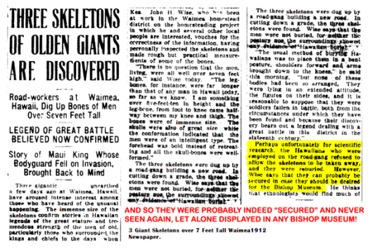 3-Giant-Skeletons-over-7-Feet-Tall-Waimea1912-Newspaper.2