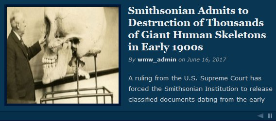 FAKE NEWS! Smithsonians NEVER admitted their destruction of giant skeletons
