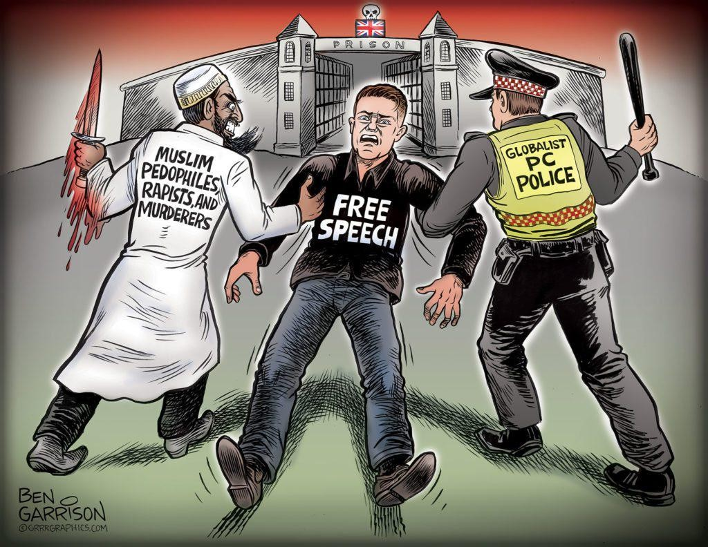 FREE Tommy Robinson! UK Needs Regime Change Away From The Posh Marxist Totalitarians!