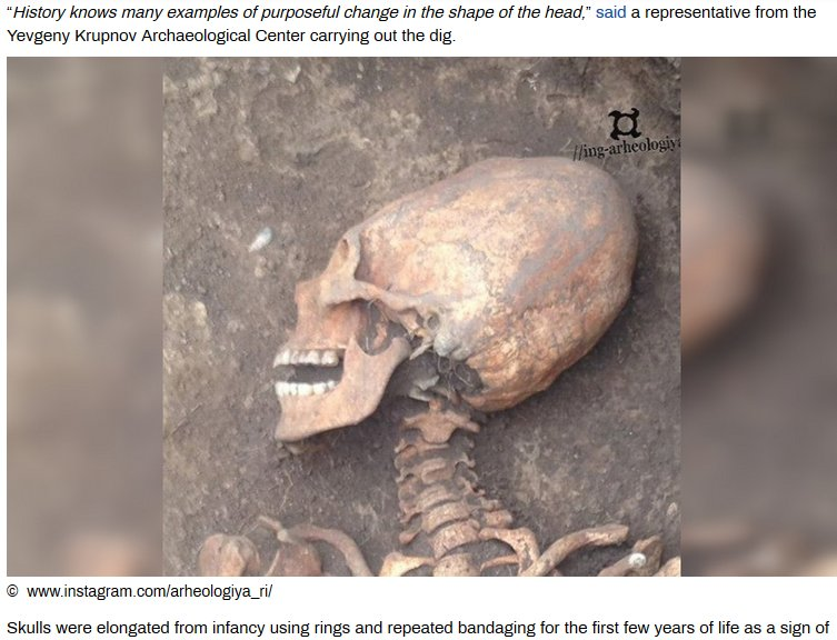 "RT – Questions Less – Obfuscates Elongated Skull Find as ""Head Binding"""